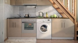 Технология установки и подключения стиральной машины на кухне: что нужно знать